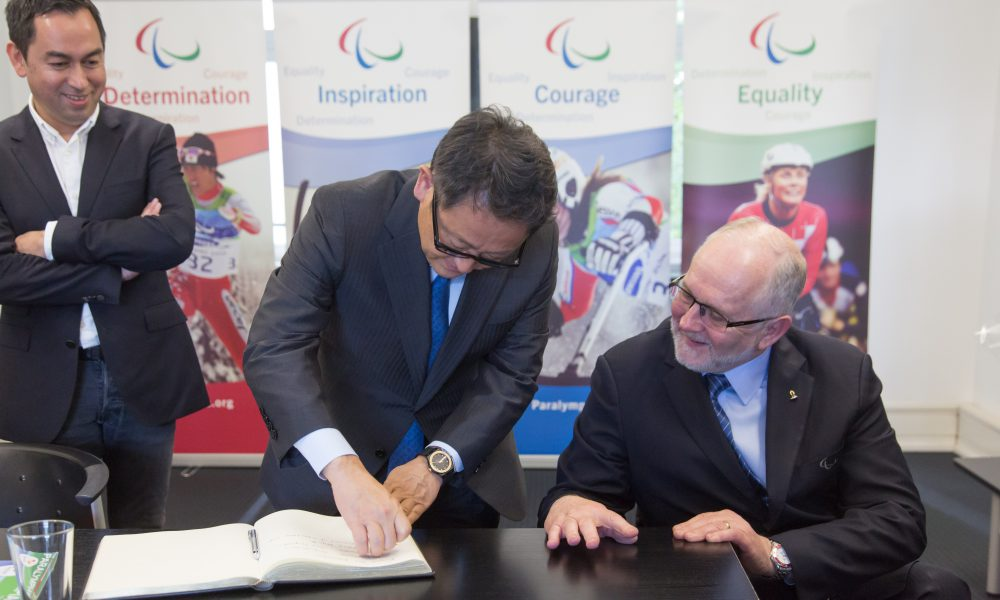 Two Years Paralympic Akio Toyoda