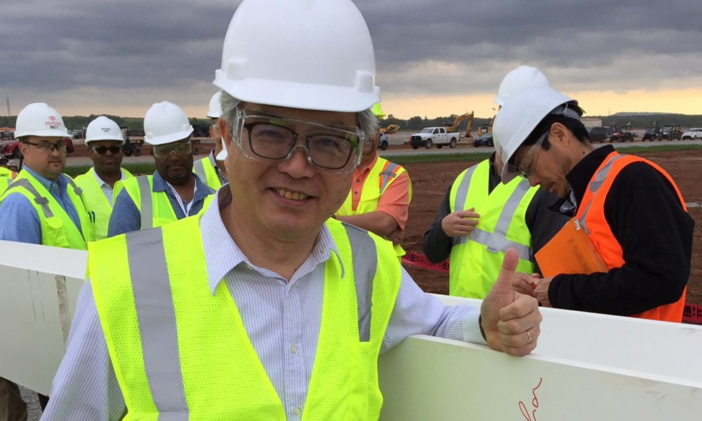 Mazda Toyota Plant Reaches New Heights