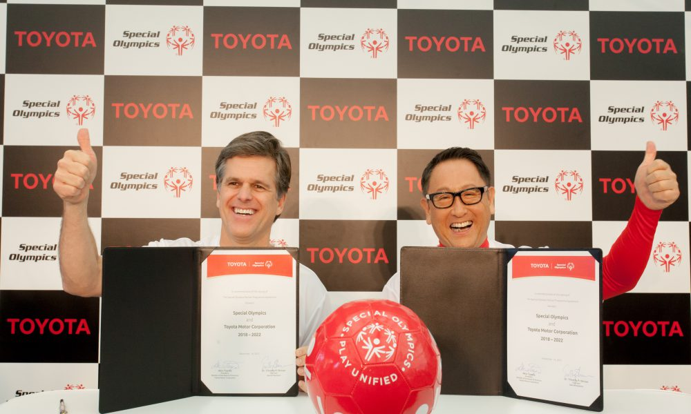 Toyota Signs Agreement to Become Global Partner of Special Olympics