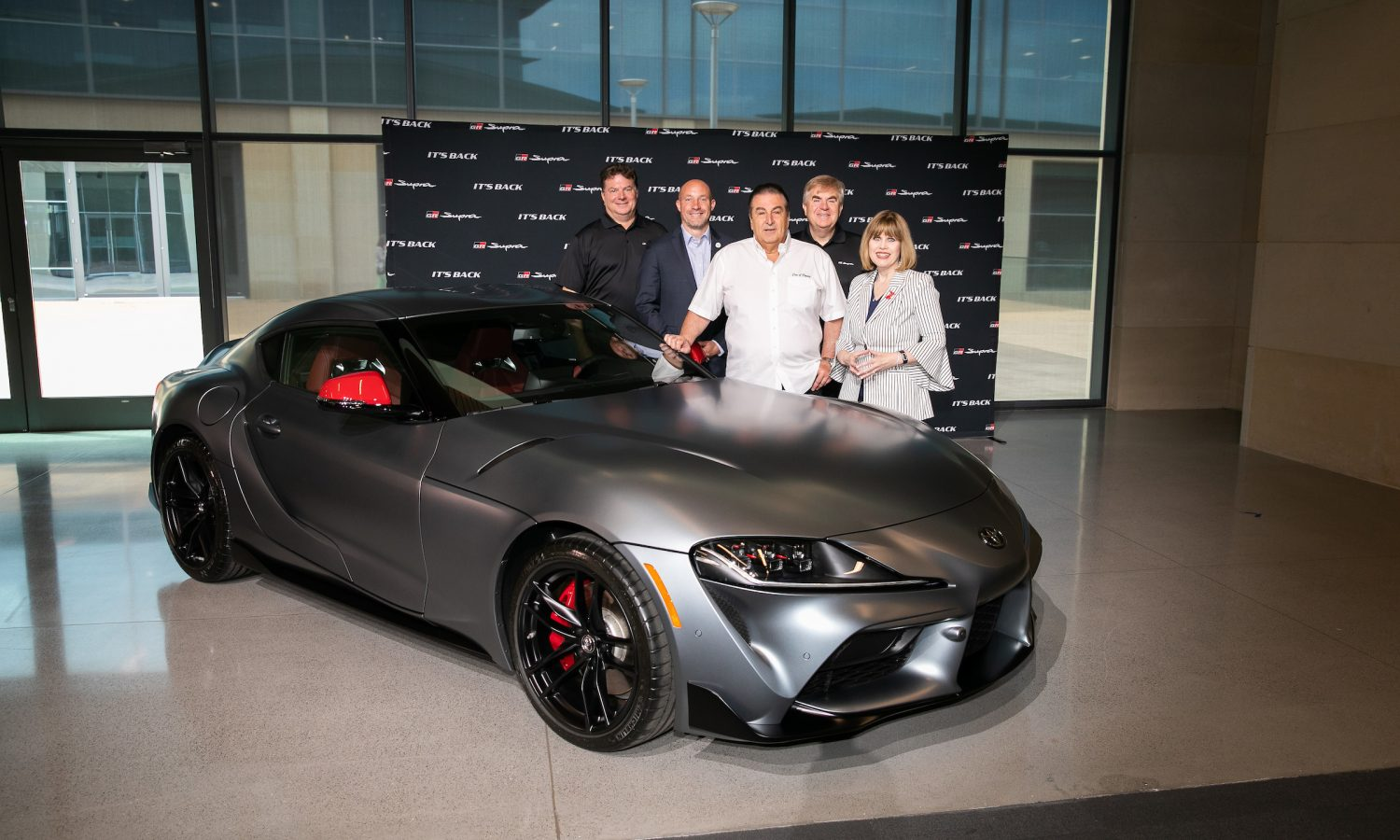 Dealer Who Paid $2.1 Million at Charity Auction Picks Up First 2020 Toyota Supra to Roll Off Production Line