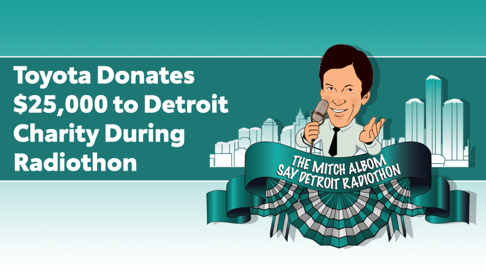Toyota Donates $25,000 to Detroit Charity During Radiothon