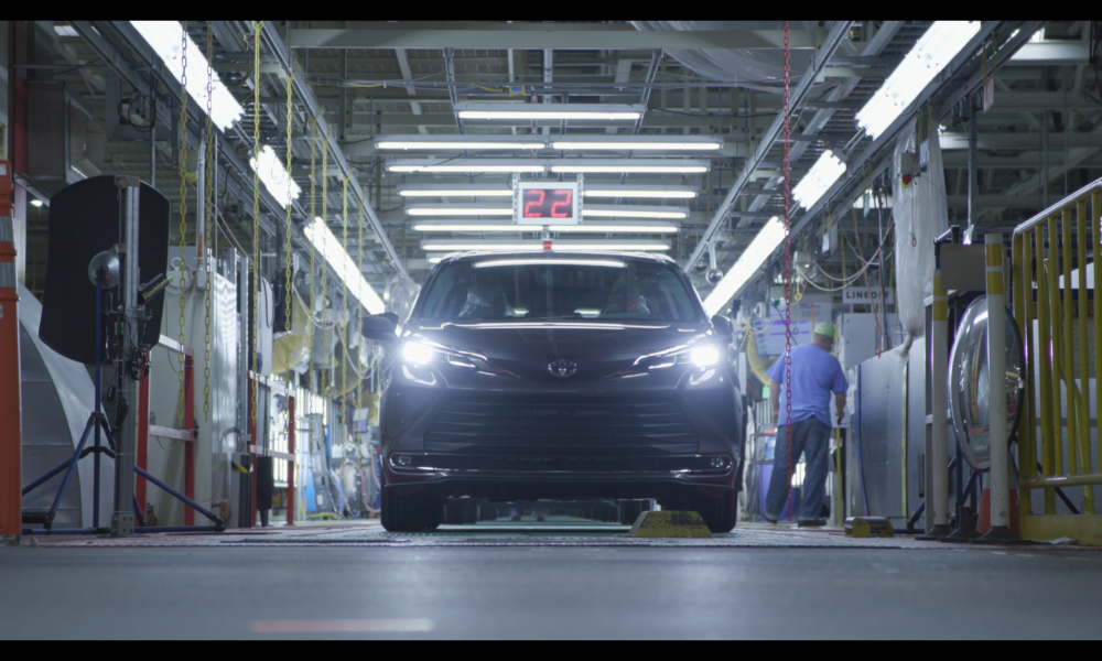 2021 Toyota Sienna rolls off the production line at Toyota Indiana